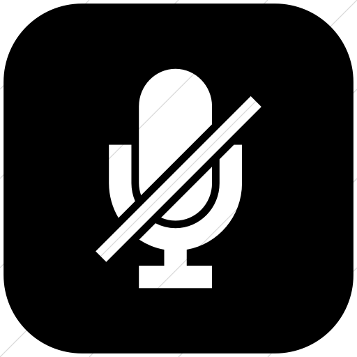 Flat Rounded Square White On Black Raphael Microphone