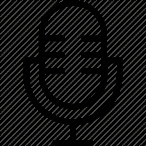 Mic, Microphone, Retro Mic, Studio Mic Icon Icon
