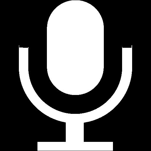 White Microphone Icon