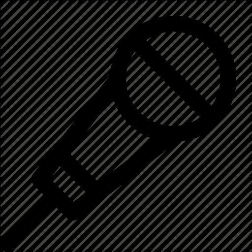 Hand, Mic, Microphone Icon