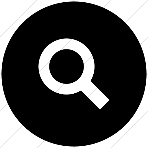 Flat Circle White On Black Raphael Search Icon