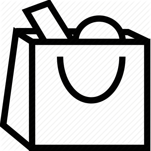 White Shopping Bag Icon