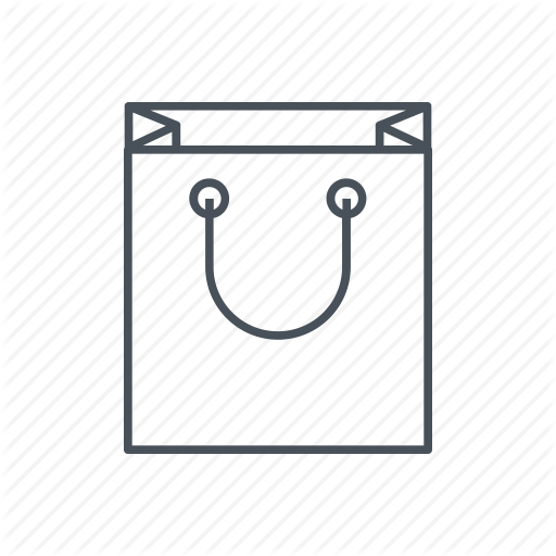 White Shopping Bag Icon Download