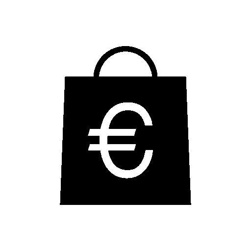 Euro Shopping Bag Icon Download Free Icons