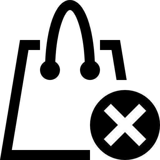 Removed From Shopping Bag Icon Free Icons Download