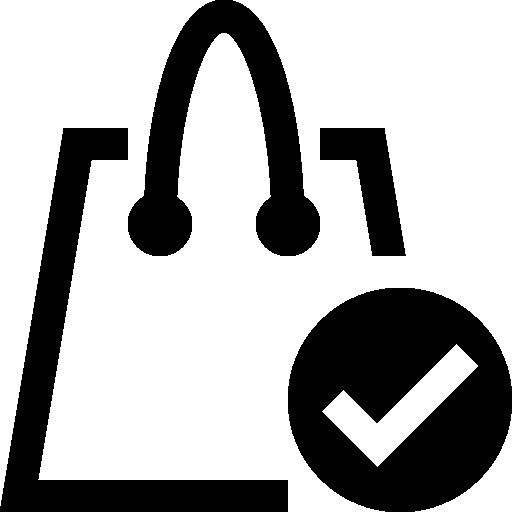 Shopping Bag Check Symbol