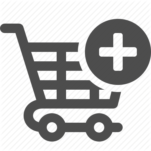 White Shopping Cart Icon