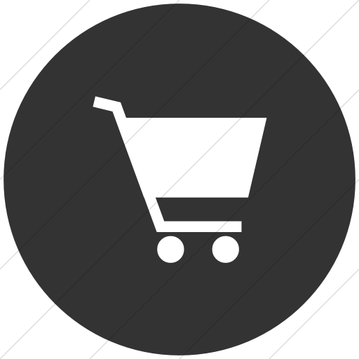 Flat Circle White On Dark Gray Classica Shopping Cart Icon
