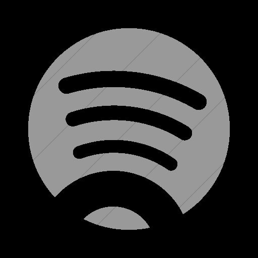 Simple Light Gray Foundation Social Spotify Icon