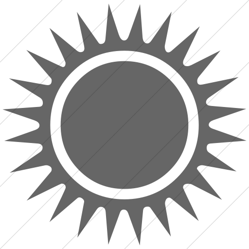 Simple Gray Classica Black Sun With Rays Icon