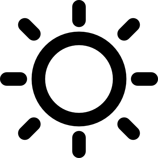 Sun Sunny Day Weather Symbol Icons Free Download