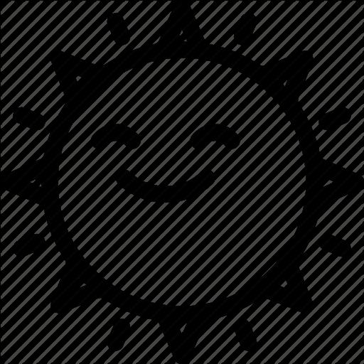 Emoji, Happy, Summer, Sun Icon