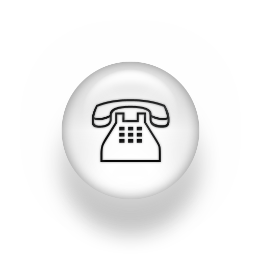 White Telephone Icon