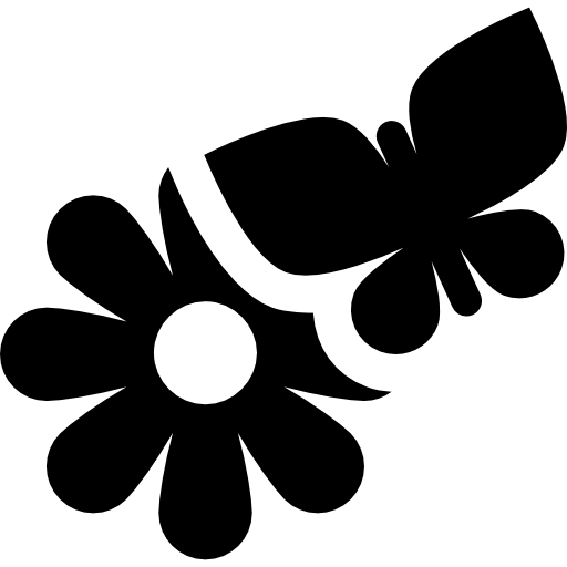 Flower And Butterfly Icons Free Download