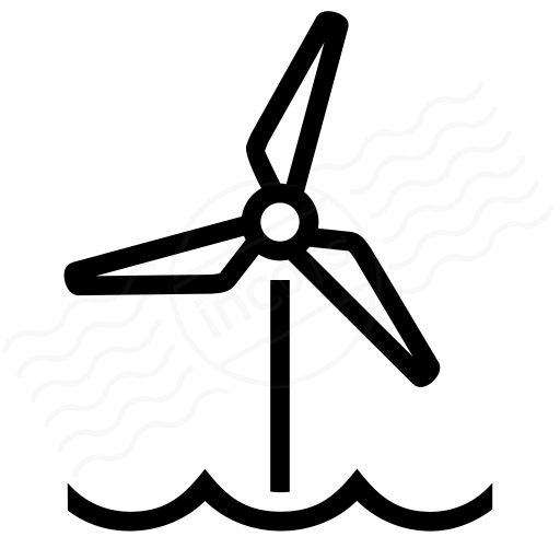 Iconexperience I Collection Wind Engine Offshore Icon