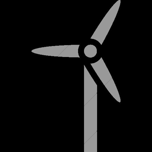 Simple Light Gray Iconathon Wind Turbine Icon