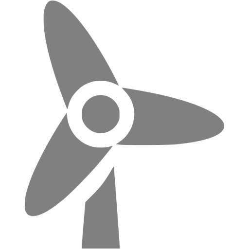 Gray Wind Turbine Icon