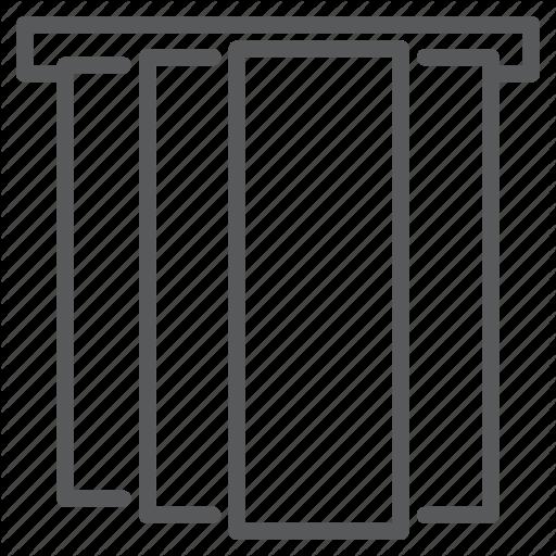 Blinds, Curtains, Interior, Jalousie, Japanese, Panel, Window Icon
