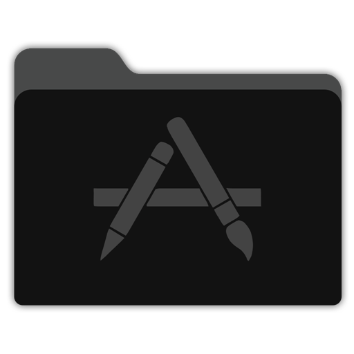 App Store Black Folder Icon