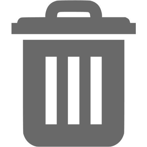 Dim Gray Trash Icon
