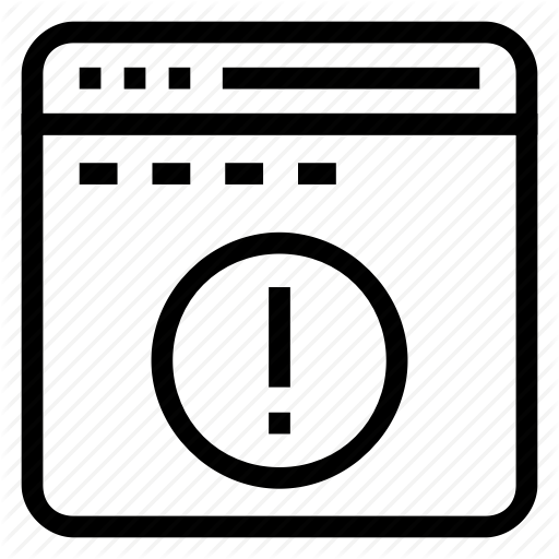 Error, Exclamation, Internet, Online, Webpage Icon