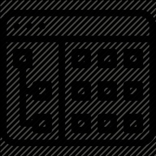 Application, Grid, Layout, Tree, Windows Icon