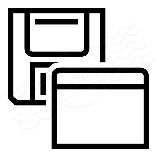 Iconexperience I Collection Floppy Disk Window Icon