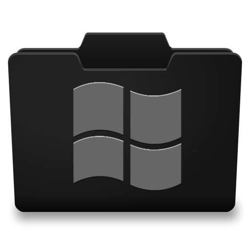 Black Grey Windows Icon