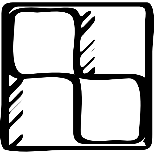 Sketched Social, Outline, Symbols, Logo, Windows Logotype