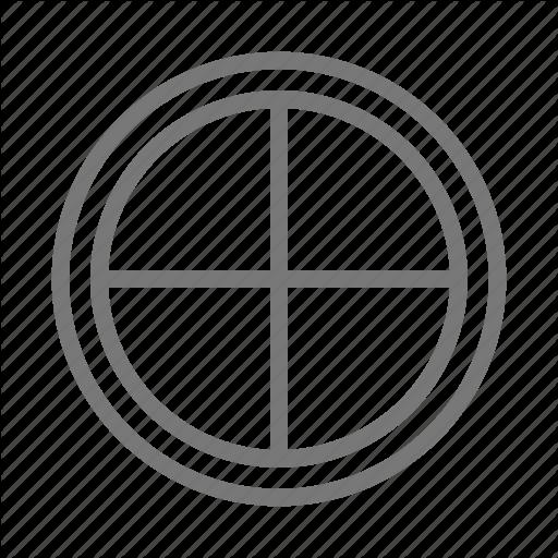 Attic, Circle, Frame, Glass, Window Icon