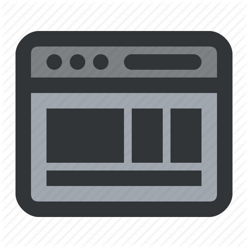 Browser, Columns, Interface, Layout, Window Icon
