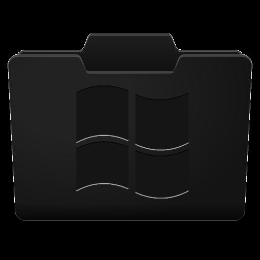 Black Folder Icons Windows Images