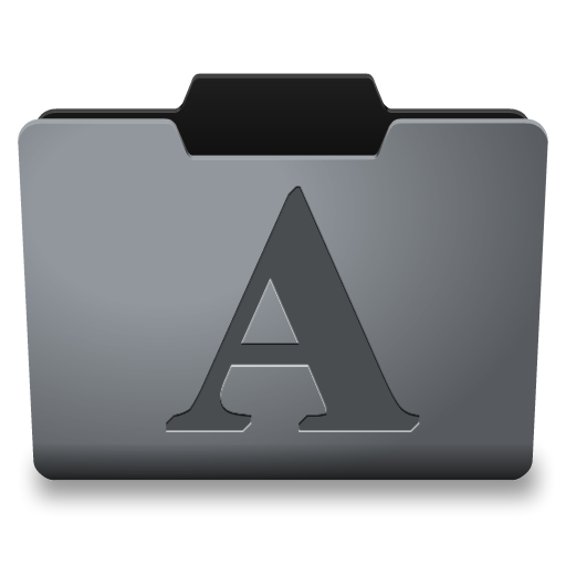 Steel Fonts Icon