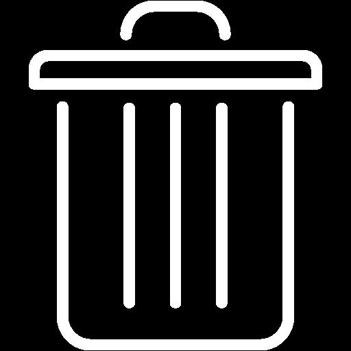 White Full Trash Icon Free White