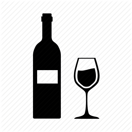 Bottle, Glass, Kitchen, Wine Icon