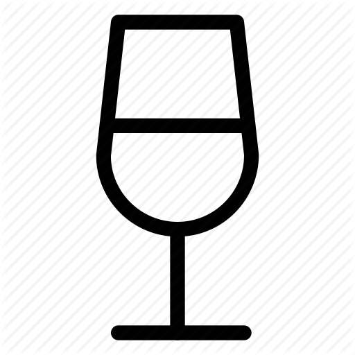 Alcohol, Drinks, Fermented Drink, Glass, Line Icon, Wine, Wine