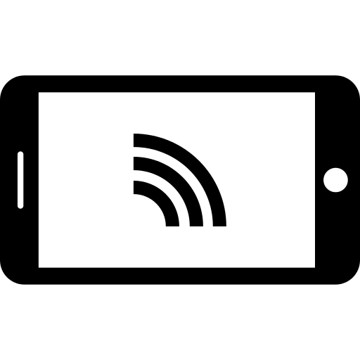 Horizontal Smartphone With Wifi Connection Png Icon