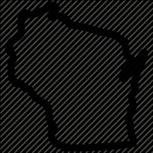 Map, Wisconsin, Wisconsin Map, Wisconsin State Icon