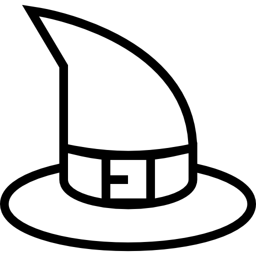 Halloween Witch Hat Outline Icons Free Download