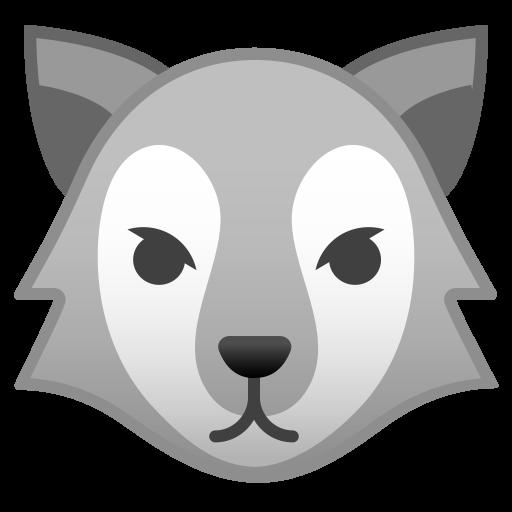 Wolf Face Icon Noto Emoji Animals Nature Iconset Google