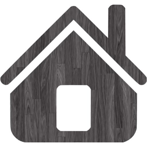 Black Wood Home Icon