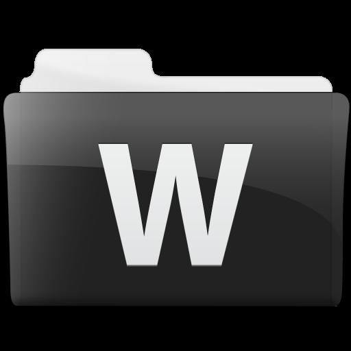 Folder Microsoft Word Icon