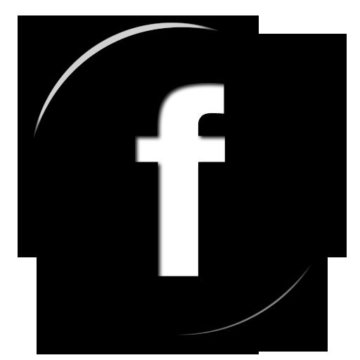 Glossy Black Button Icon Social Media Logos Facebook