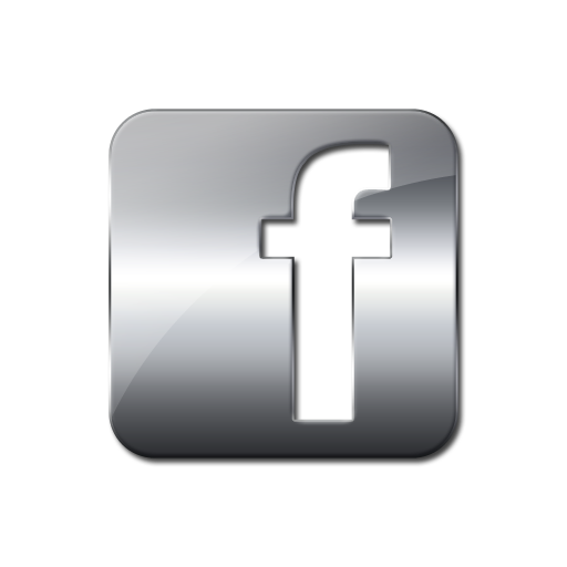 Glossy Silver Icon Social Media Logos Facebook Logo Square