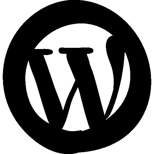 Wordpress Flat Black Icon