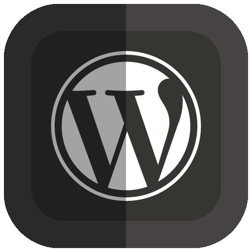 Wordpress Icon Folded Social Media Iconset Uiconstock