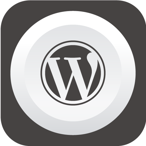 Wordpress Icon Rounded Flat Social Iconset Graphicloads