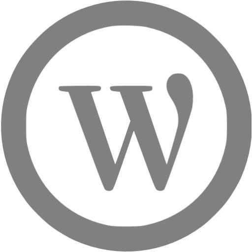 Gray Wordpress Icon