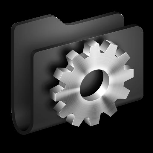 Developer Black Folder Icon Alumin Folders Iconset Wil Nichols