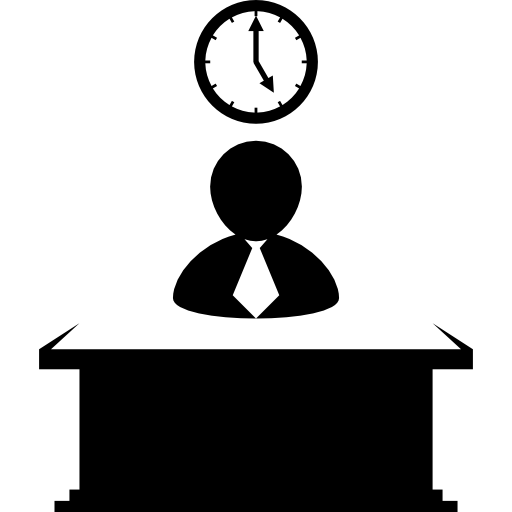 Office Work With Time